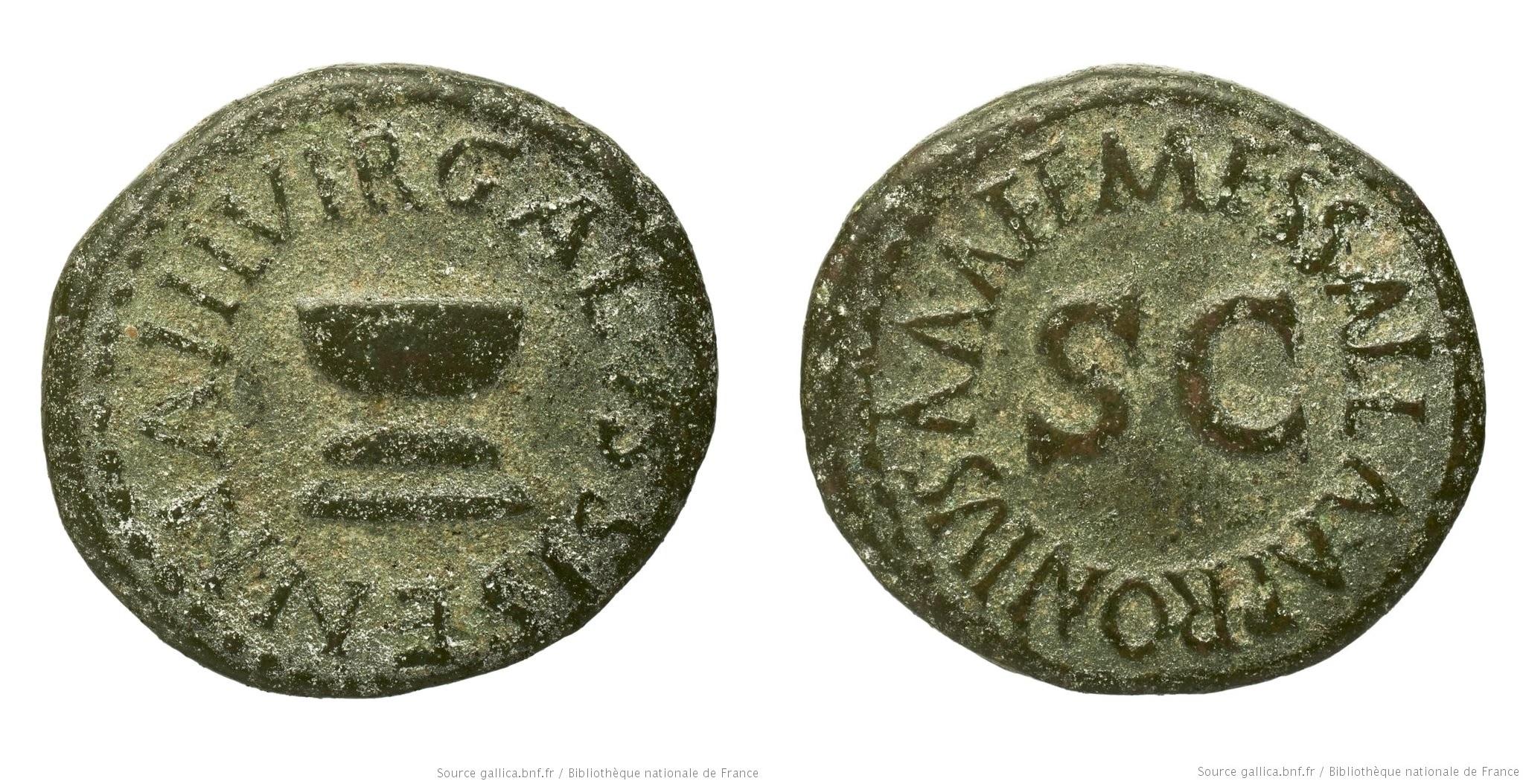 2188AU – Quadrans Auguste – Apronius, Galus, Messalla et Sisenna