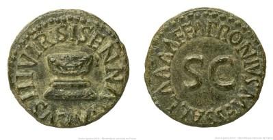2197AU – Quadrans Auguste – Apronius, Galus, Messalla et Sisenna