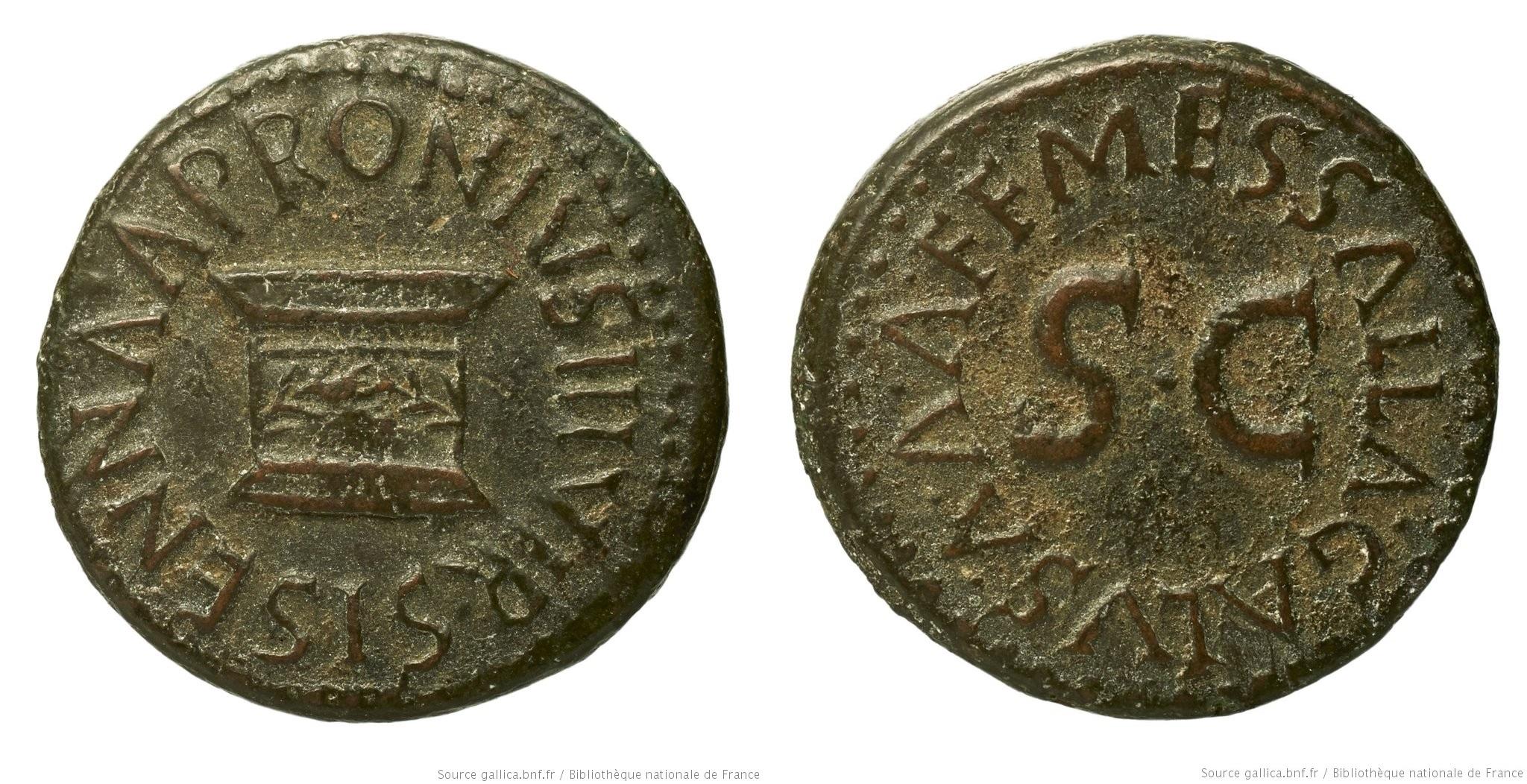 2200AU – Quadrans Auguste – Apronius, Galus, Messalla et Sisenna