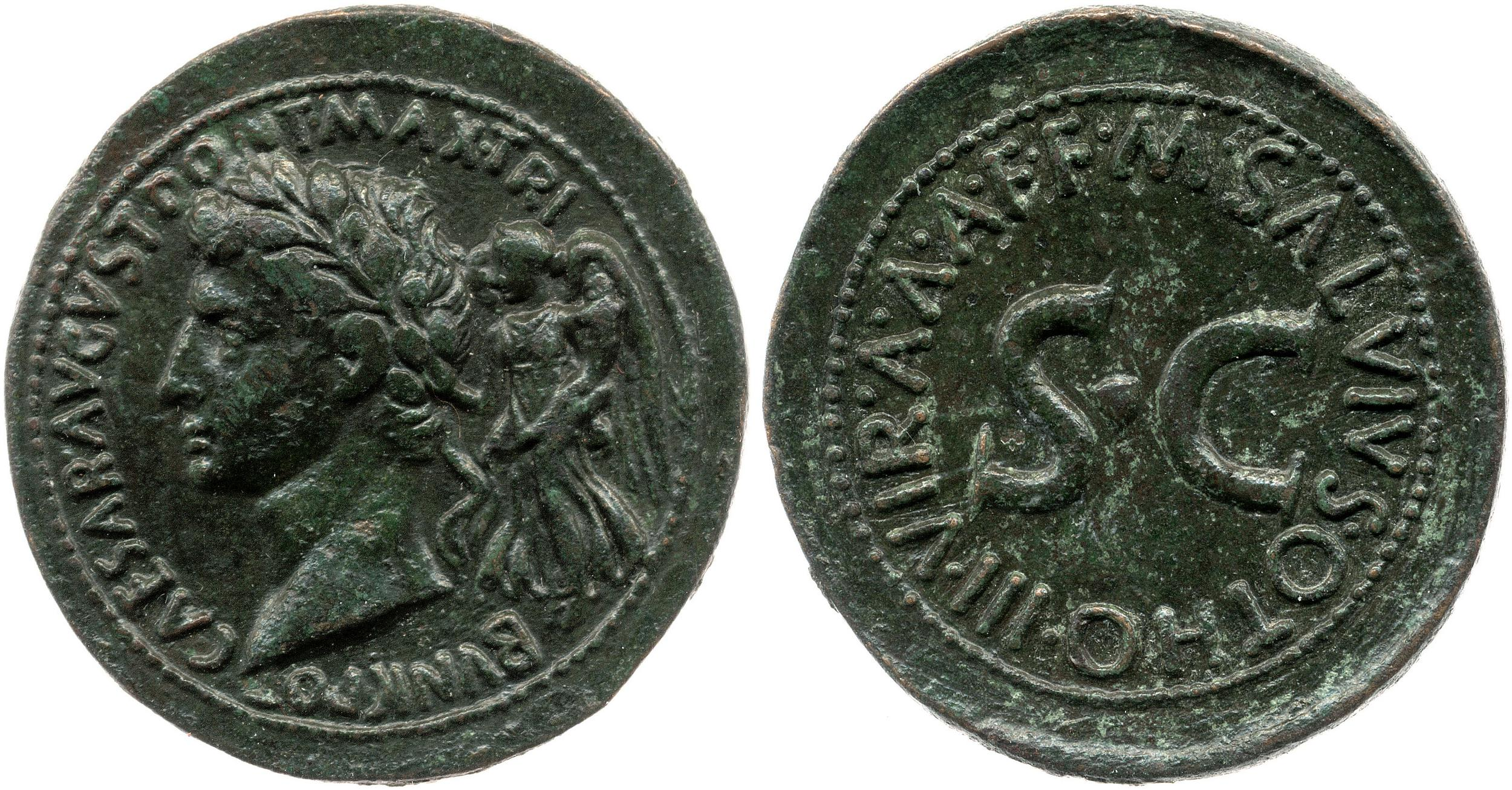 You are currently viewing 2167AU – Sesterce Auguste – M. Salvius Otho