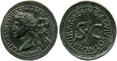 2167AU – Sesterce Auguste – M. Salvius Otho