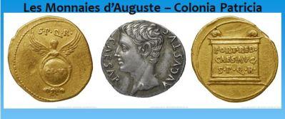 Les monnaies d'Auguste – Colonia Patricia