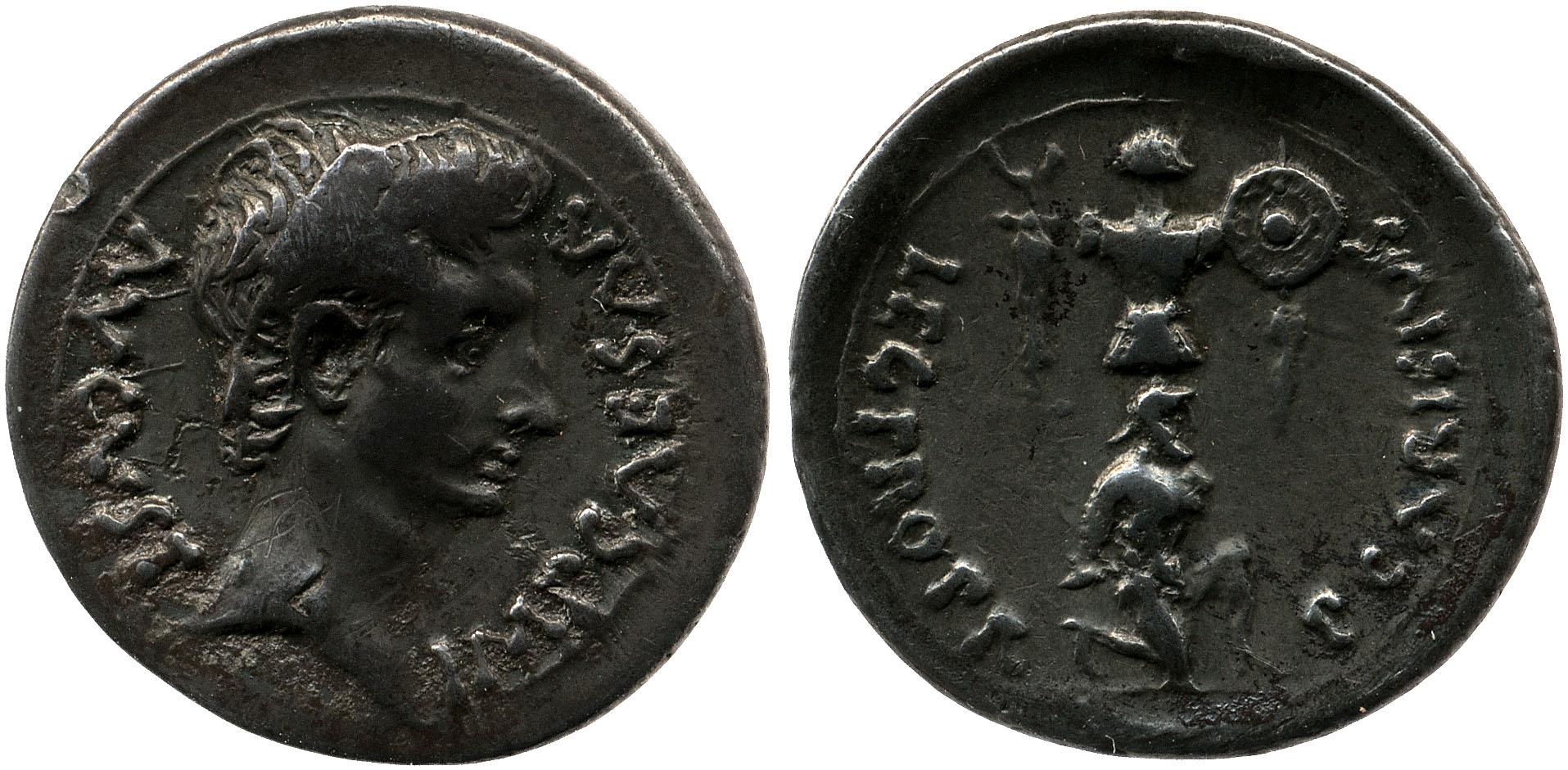 2444AU – Denier Auguste – P. Carisius