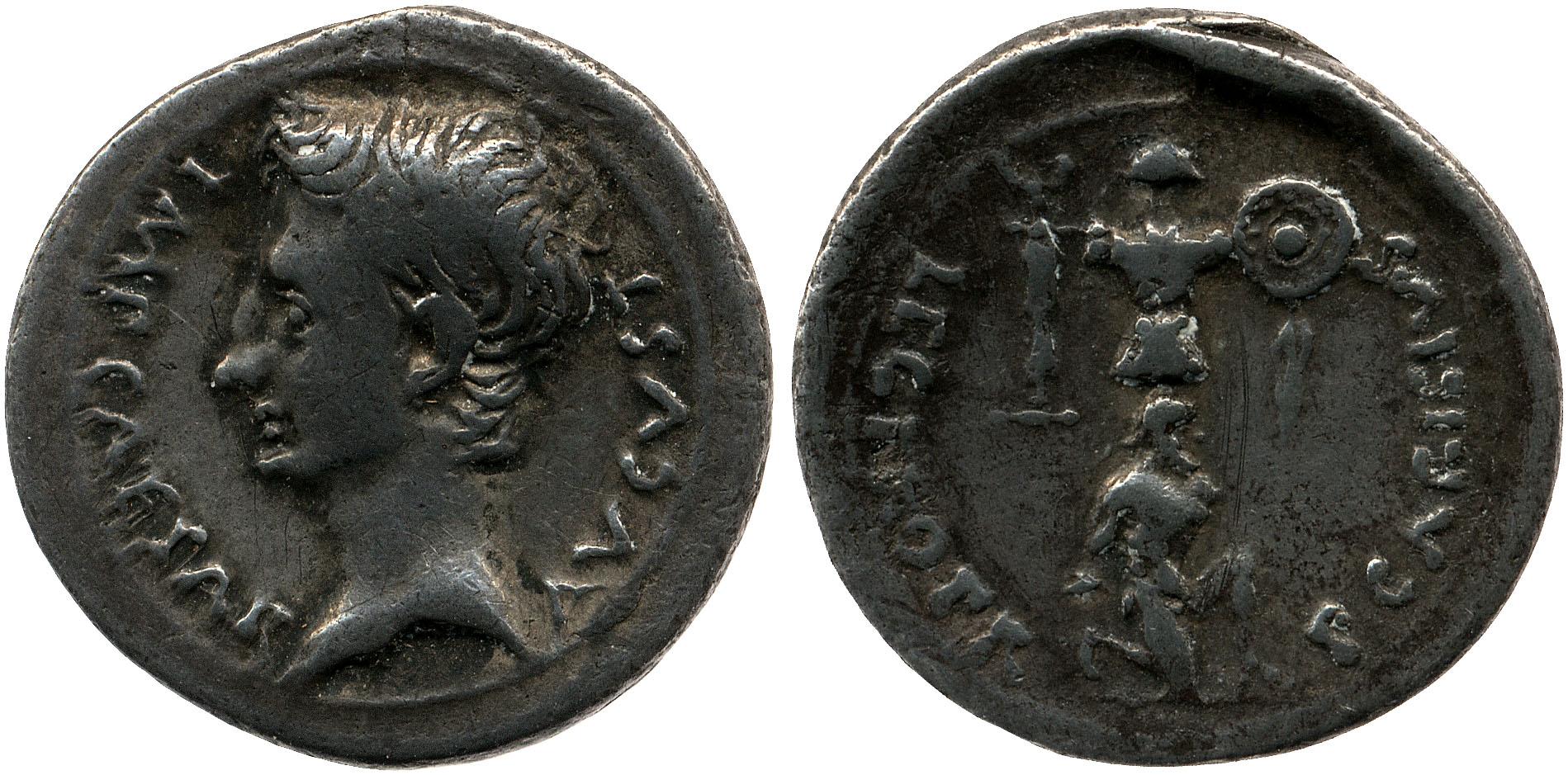 2445AU – Denier Auguste – P. Carisius