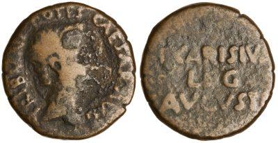 2459AU – As Auguste – P. Carisius