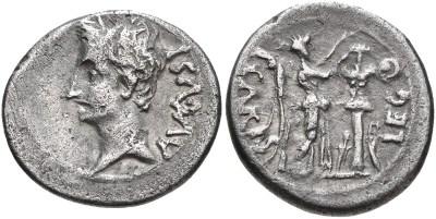 2437AU – Quinaire Auguste – P. Carisius