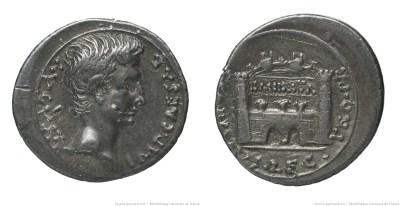 2449AU – Denier Auguste – P. Carisius