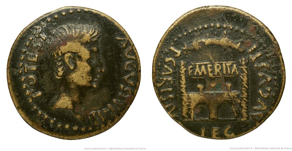 2452AU – Dupondius Auguste – P. Carisius