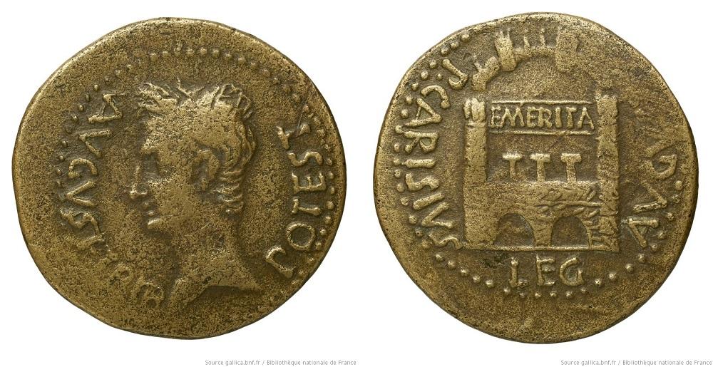 2453AU – Dupondius Auguste – P. Carisius