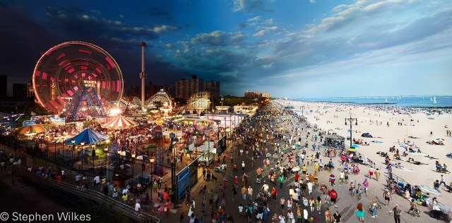 Coney Island Boardwalk, Day to Night ™