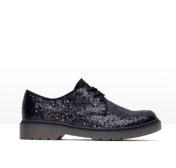 Black Sparkly Shoes by Zara
