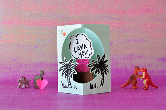 Hello! Lucky Lava DIY Card