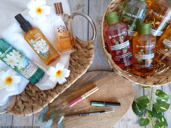 Mes soins et maquillage favoris Yves rocher