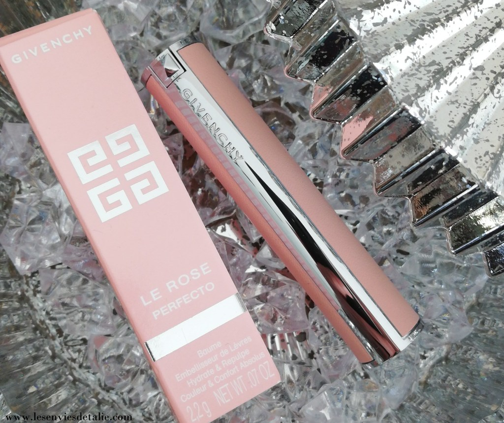 Etui et tube du Baume Couture Rose Perfecto Givenchy