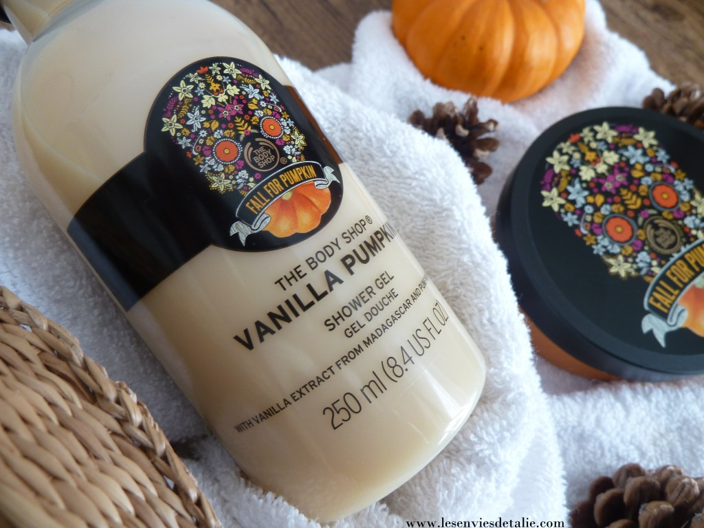 gamme Vanilla Pumpkin The Body Shop