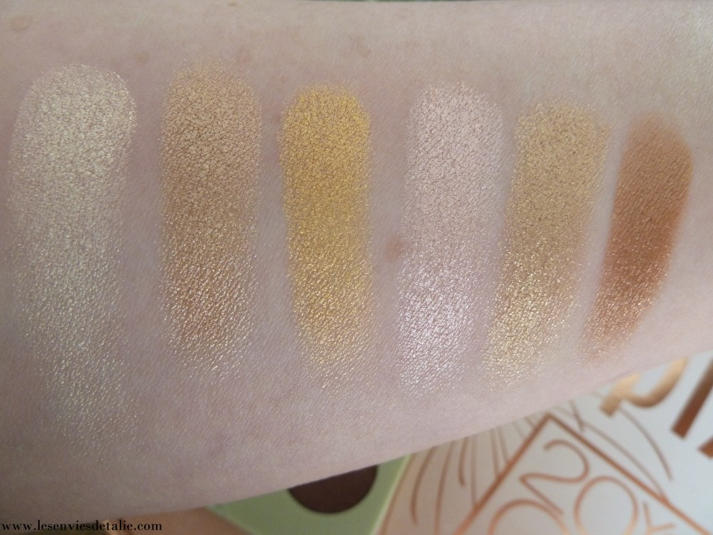 Swatches #1 Eye reflection Shadow palette Pixi Beauty Reflex light