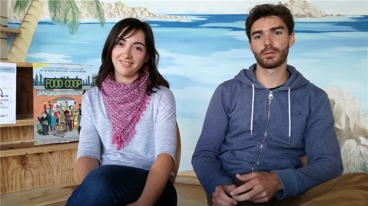 Laure et Renaud du supermarché coopératif Scopeli
