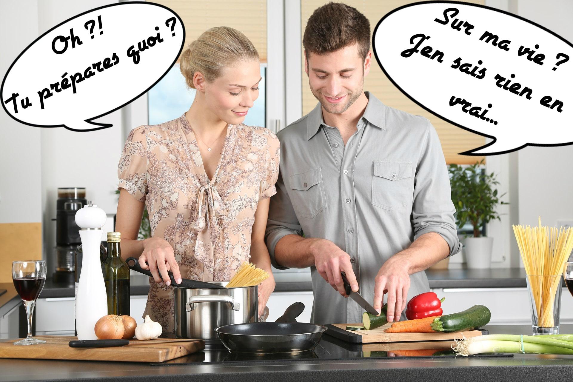 En cuisine avec ce beau couple