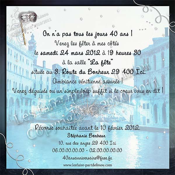 Top Invitation 40 Ans Anniversaire Qt22 Montrealeast