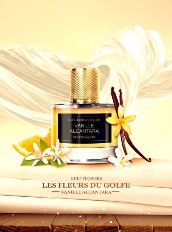 The perfume Vanille Alcantara with vanilla, oranges and flowers