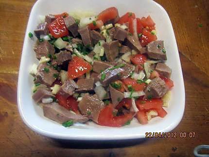Recette de Salade de langue de boeuf