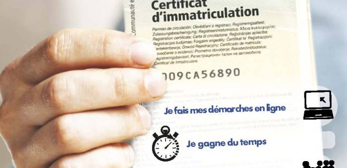 Démarches Certificat d'Immatriculation ANTS