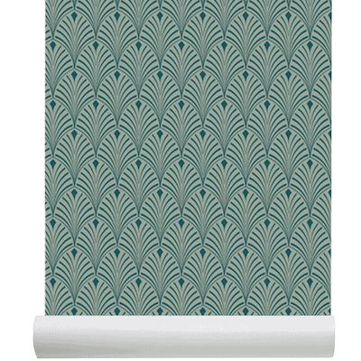 Papier Peint Intiss Cme Art Dco Design Chic Bleu