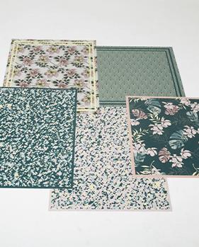 tapis vinyle tapis vinyles design mosaique motif fleurs