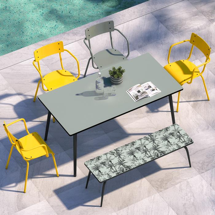 fauteuil de jardin sun en acier i designed by les gambettes