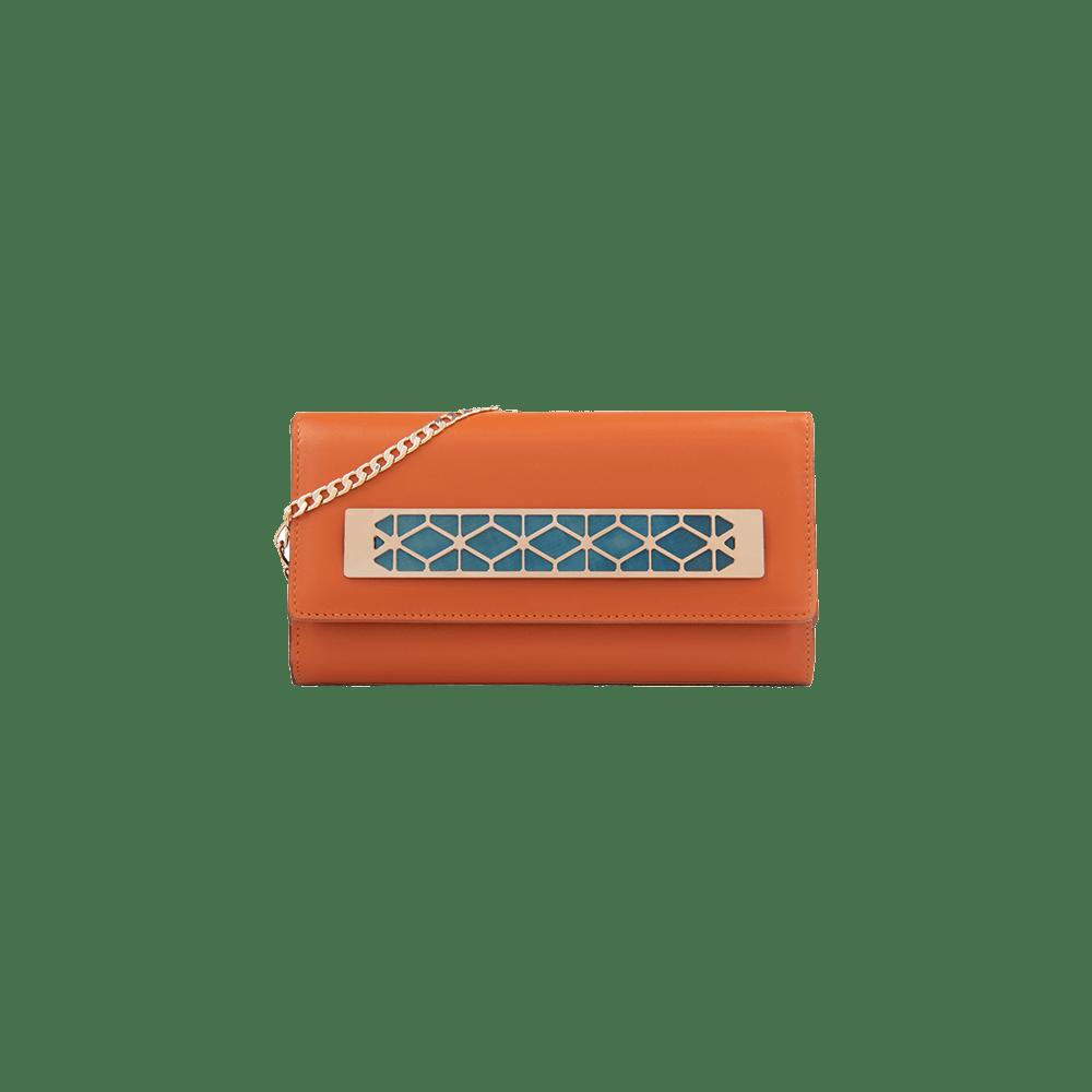 portefeuille mandarine bijou de sac