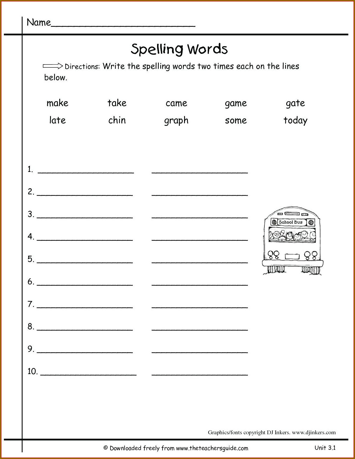2nd Grade Comma Worksheet