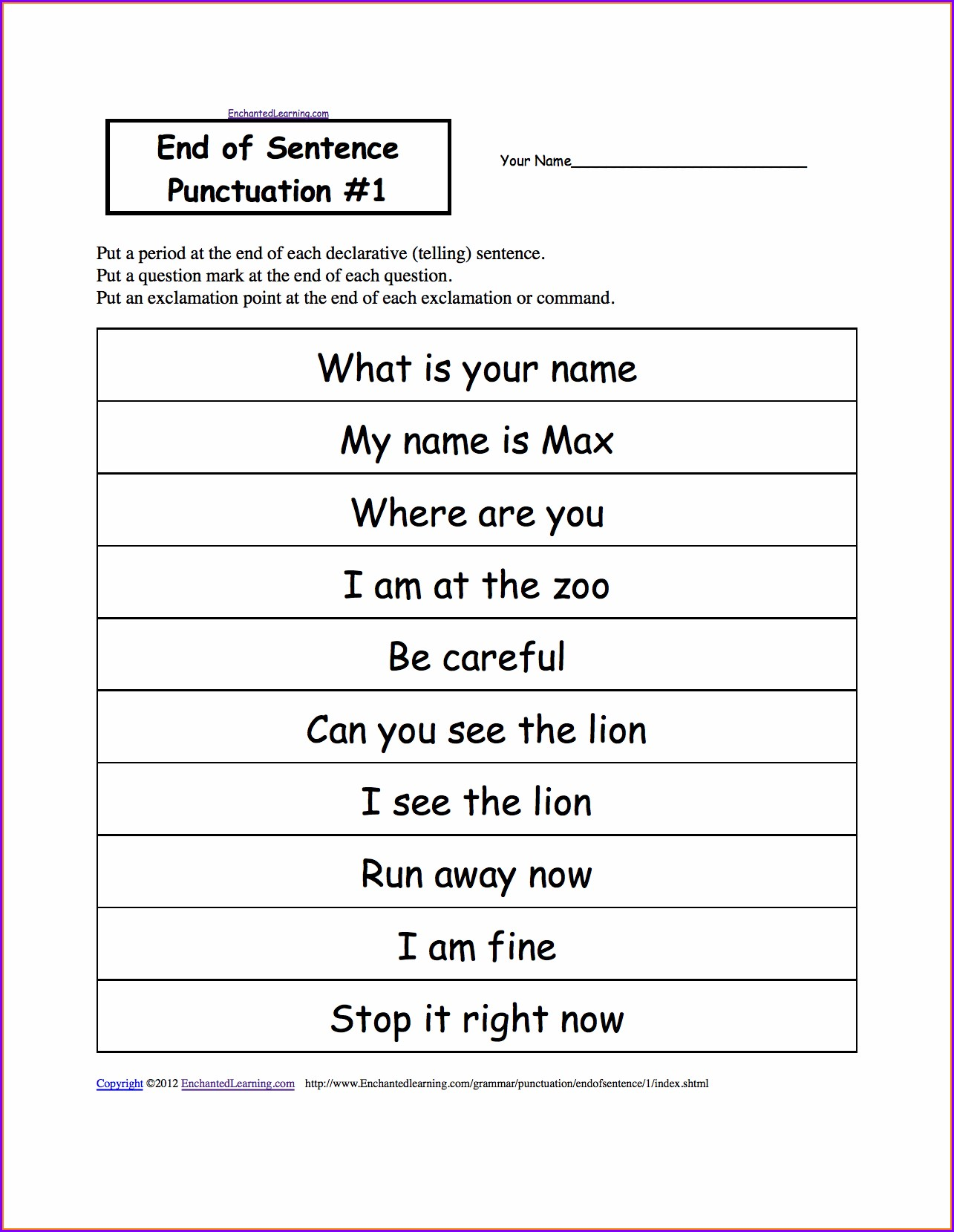 hight resolution of Missing Punctuation Paragraph Worksheets   Printable Worksheets and  Activities for Teachers