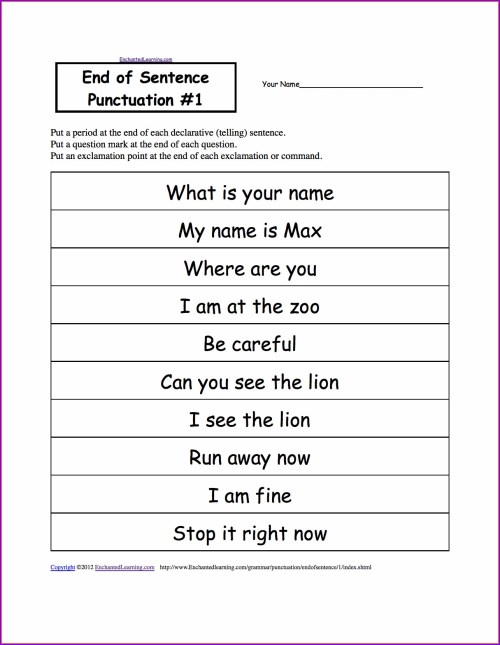 small resolution of Missing Punctuation Paragraph Worksheets   Printable Worksheets and  Activities for Teachers