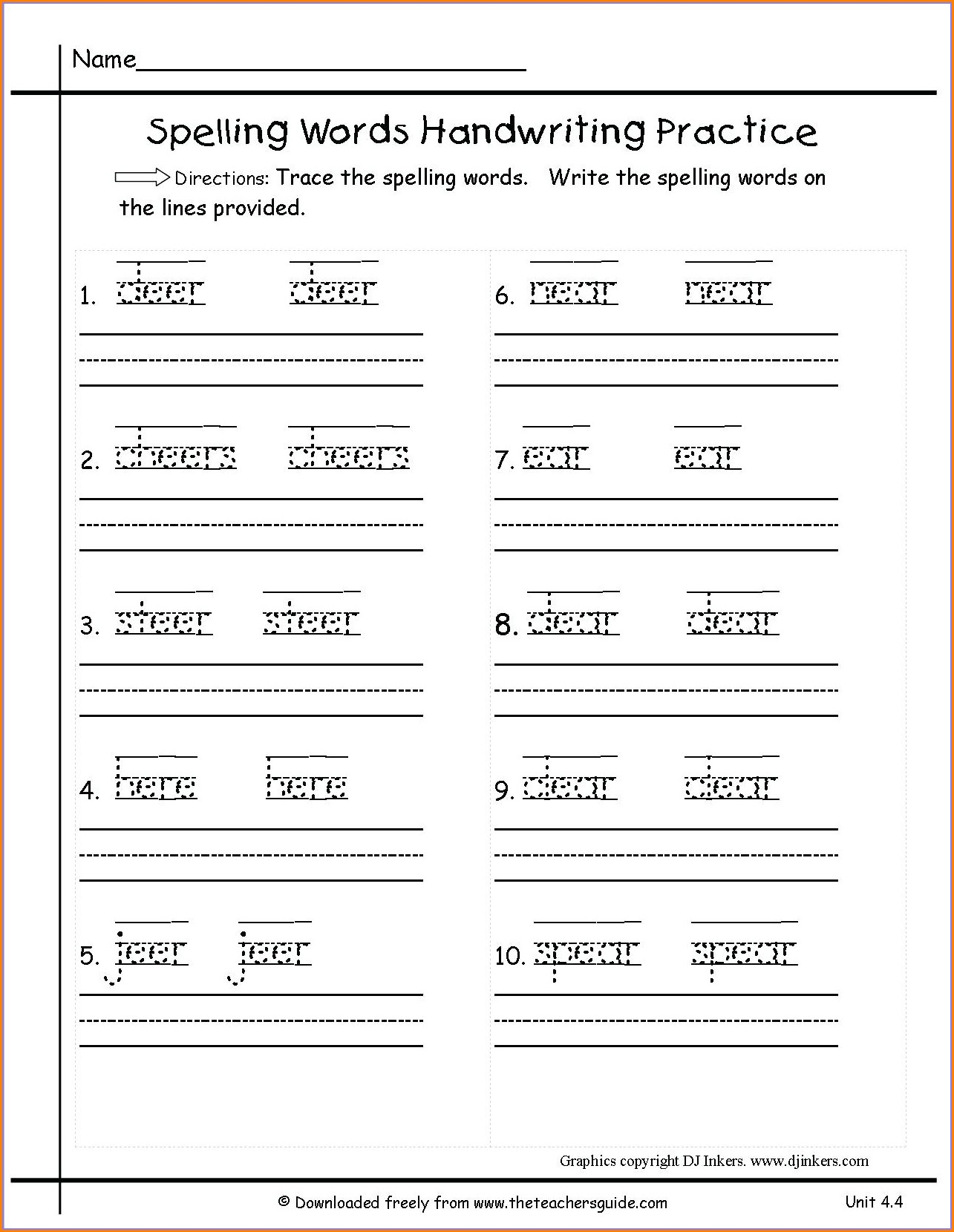 Preschool Handwriting Without Tears Order