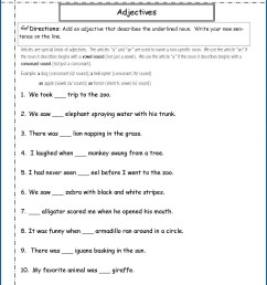 2nd Grade Adverb Adjective Worksheet   Printable Worksheets and Activities  for Teachers [ 1563 x 1210 Pixel ]
