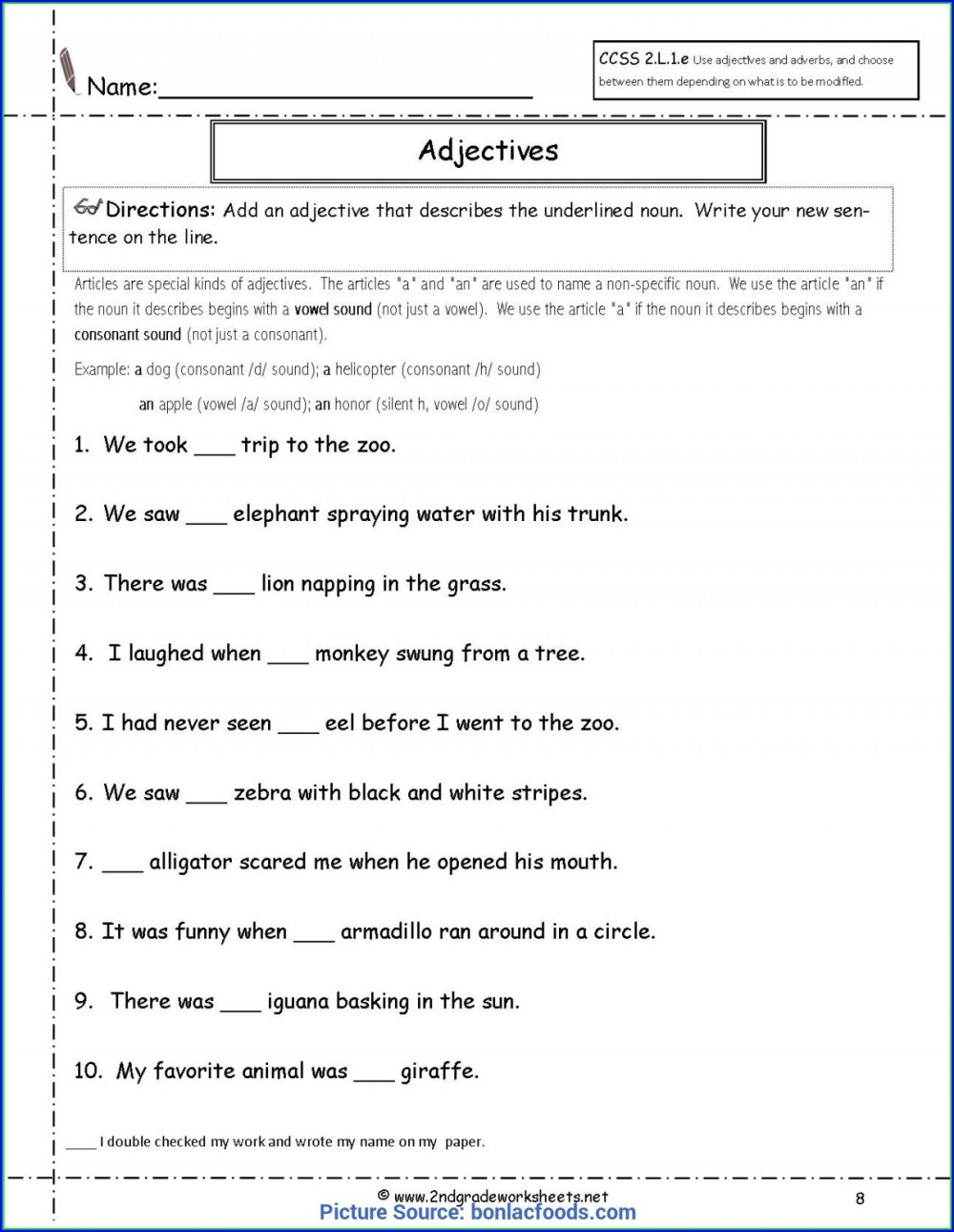 medium resolution of 2nd Grade Adverb Adjective Worksheet   Printable Worksheets and Activities  for Teachers
