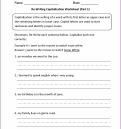Punctuation Practice Worksheets 3rd Grade   Printable Worksheets and  Activities for Teachers [ 2210 x 1710 Pixel ]