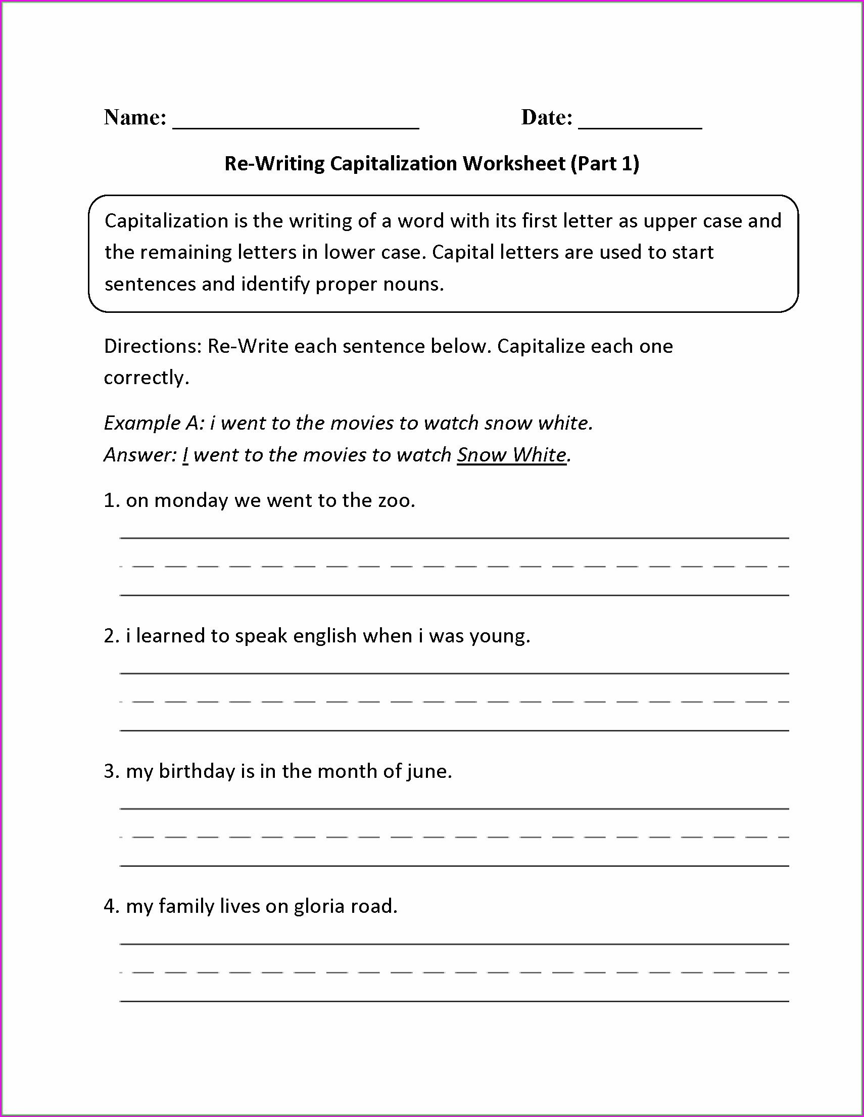 hight resolution of Punctuation Tracing Worksheets   Printable Worksheets and Activities for  Teachers