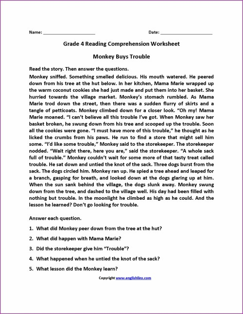 small resolution of 4th English Worksheets   Printable Worksheets and Activities for Teachers