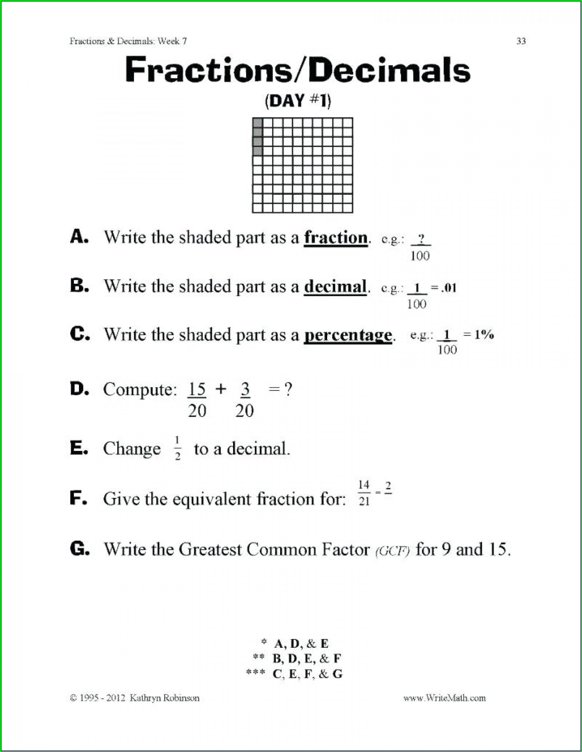 hight resolution of Equivalent Fractions Fourth Grade Worksheets   Printable Worksheets and  Activities for Teachers