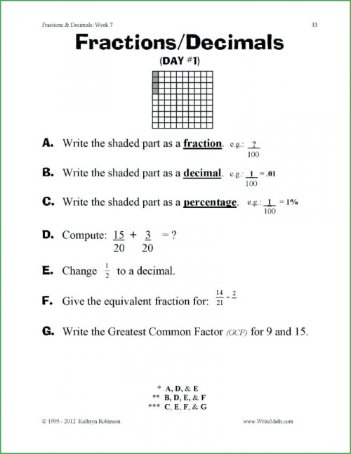 small resolution of Equivalent Fractions Fourth Grade Worksheets   Printable Worksheets and  Activities for Teachers