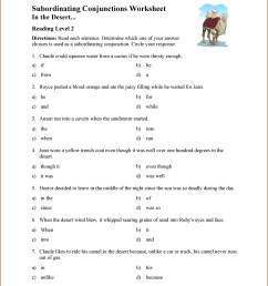 Subordinate Conjunction Worksheet 5th Grade   Printable Worksheets and  Activities for Teachers [ 3607 x 2790 Pixel ]