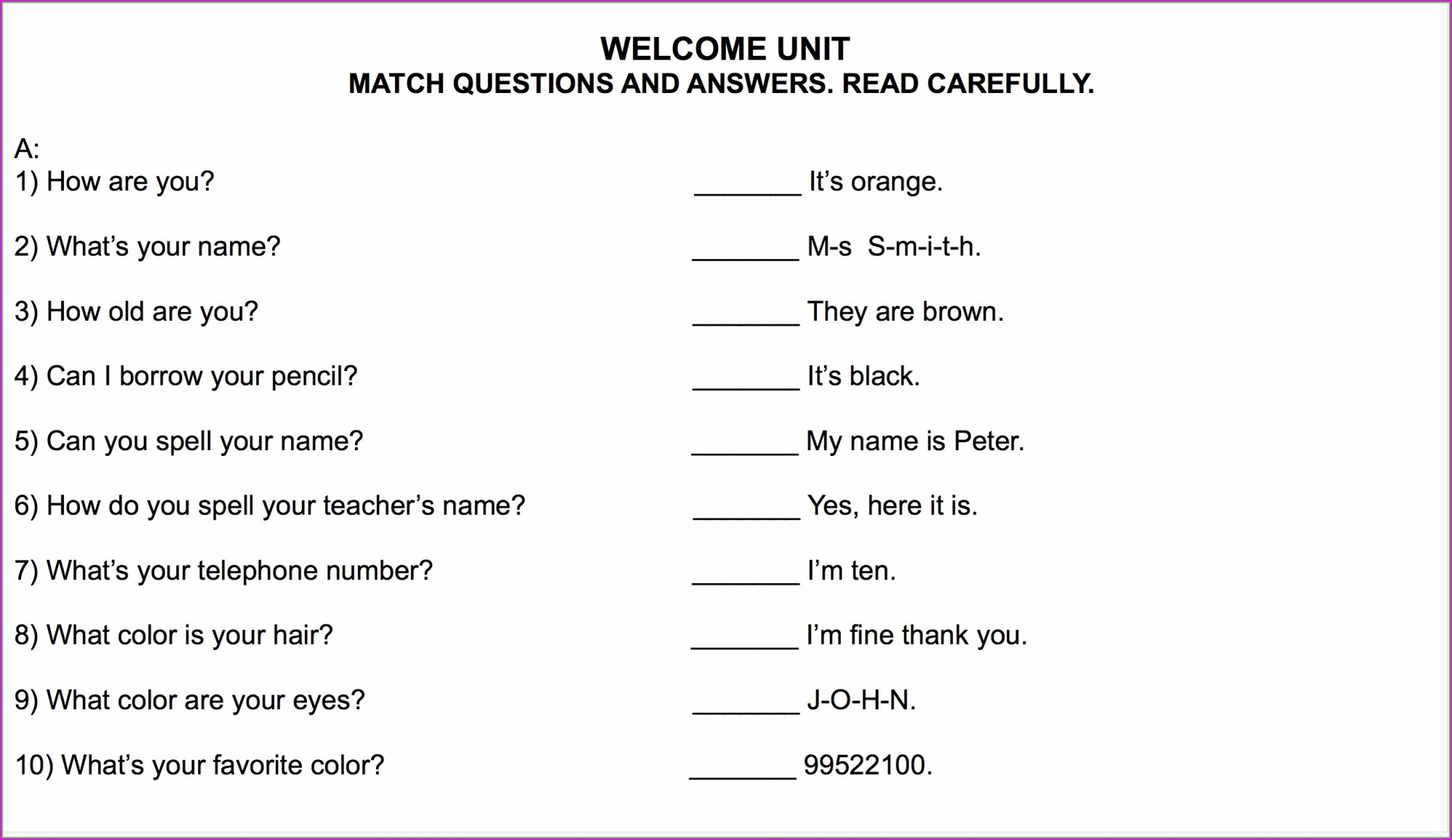 hight resolution of English Worksheet 6th   Printable Worksheets and Activities for Teachers