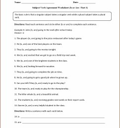Subject Verb Agreement Worksheet Grade 7   Printable Worksheets and  Activities for Teachers [ 2210 x 1710 Pixel ]