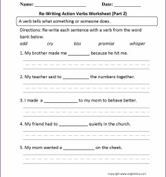 And Action Verbs Helping Verbs Linking Verbs Worksheet Grade 8   Printable  Worksheets and Activities for Teachers [ 2210 x 1710 Pixel ]