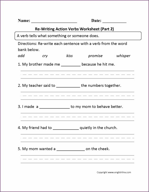 small resolution of And Action Verbs Helping Verbs Linking Verbs Worksheet Grade 8   Printable  Worksheets and Activities for Teachers