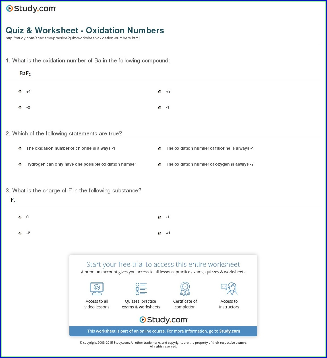 Assigning Oxidation Numbers Worksheet Hcl
