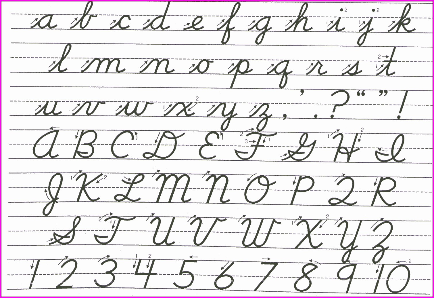 Cursive Writing Practice Sheets A Z Free