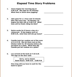 3rd Grade Elapsed Time Number Line Worksheets   Printable Worksheets and  Activities for Teachers [ 1510 x 1169 Pixel ]