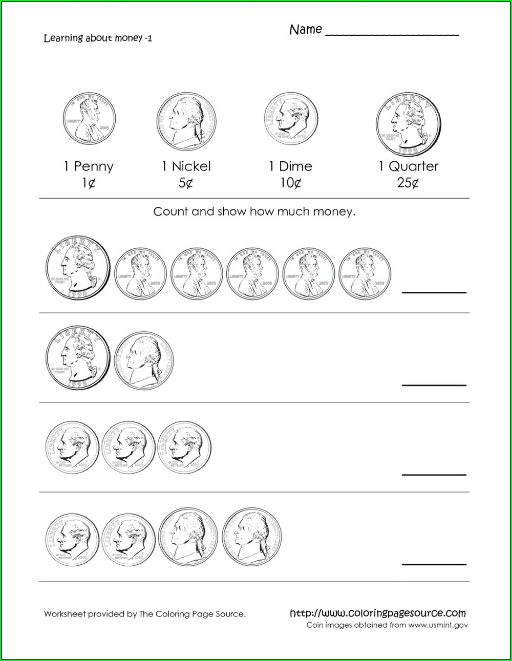 medium resolution of Counting Quarters Worksheets   Printable Worksheets and Activities for  Teachers